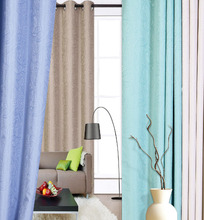 1pc Floral Design Jacquard blackout Window Curtain With 8 Grommets