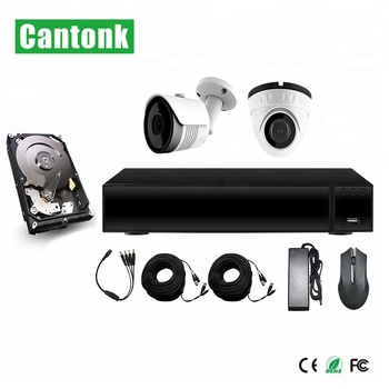 Cantonk 5.0 Megapixel IR Dome & Bullet Camera Waterproof 1080P DIY XVR Kits HD Cameras