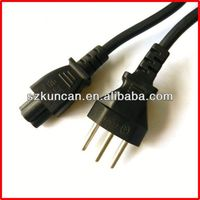 3 pin straight brazil plug with cord