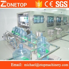 Auto 5 gallon bucket drink water production line/pet jar filling packaging machines/bucket water filling line