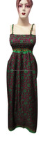 KTED-12 Vintage Look designer one piece girls party dresses Long Western dress spaghetti strap Sanganeri Block Printed Jaipur