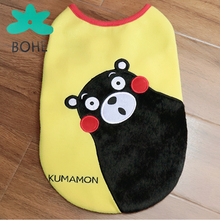 LUVP+K-KUMAMON Lovely puppy apparel import dog clothes china soft fabric pet clothes