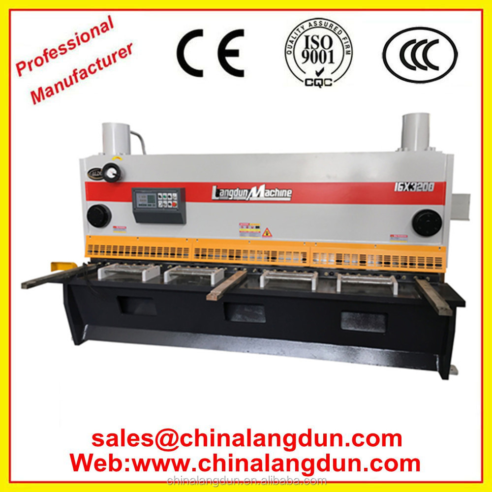 Carbon steel Electric Water Heater Production Equipment hydraulic Shearing Machine, Metal Sheet Cutting