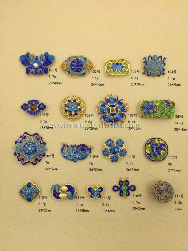 china's traditonal cloisonne enamel 925 silver jewelry findings