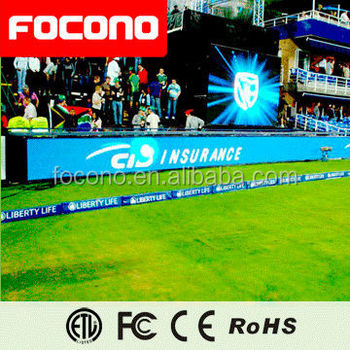 FOCONO p10 full color for Stadium sport live high brightness large led screen/ advertising led video wall