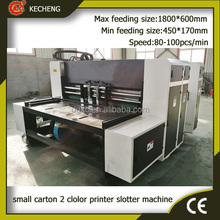 small corrugated carton flexo printing slotting machine