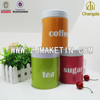 wholesale empty custom round metal tea tin box