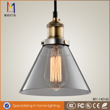 Bestselling Products Industrial Edison Mini Glass pendant light smokey grey