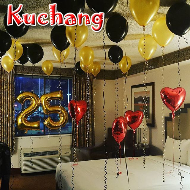 Non Floating 25 Number Balloons 25th Birthday Party Supplies Silver