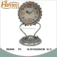 antique silver foil stand iron clock manufacturer