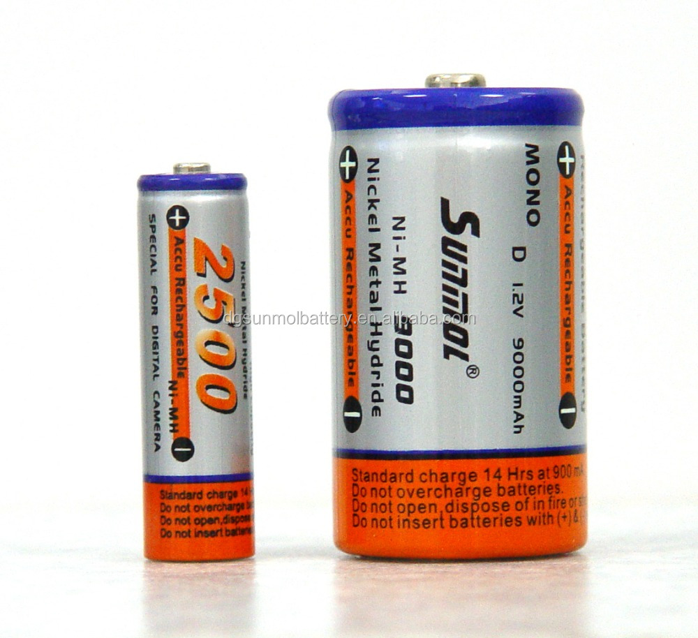 1.2v rechargeable battery small rechargeable battery ni-MH Rechargeable Batteries