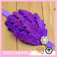 Sell as hot cake colorful cheap feather infant baby headband/