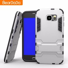 New arrival TPU PC Kickstand phone case cover for samsung galaxy s6 ,for samsung galaxy s6 edge