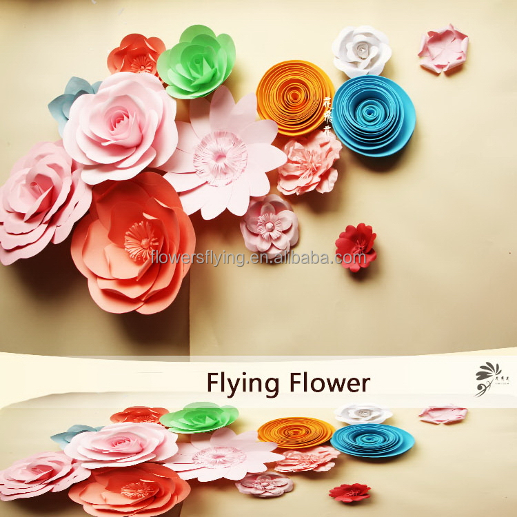 Top grade economic make chinese paper flowers