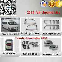 Toyota Hiace Commuter 2014- full chromed kits toyota hiace chrome trim accessory cars exterior accessories