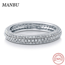925 sterling silver eternity ring made with 3A zirconia jewelry R860-SW01