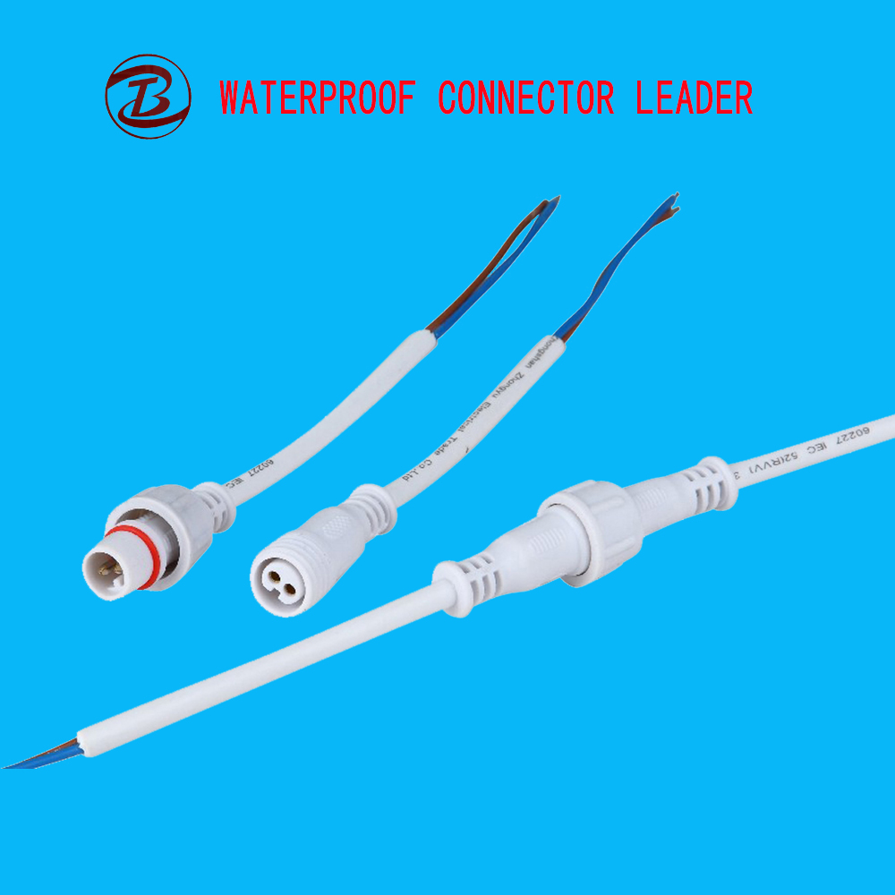 IP68 Rohs CE Power Cable 12v 2 Pin Plug Car Connector