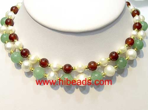 fashion opal with some pearls necklace GN0388