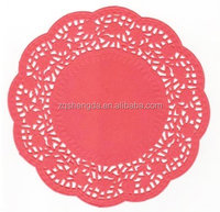 Round Disposable Lace Paper Placemats for Food