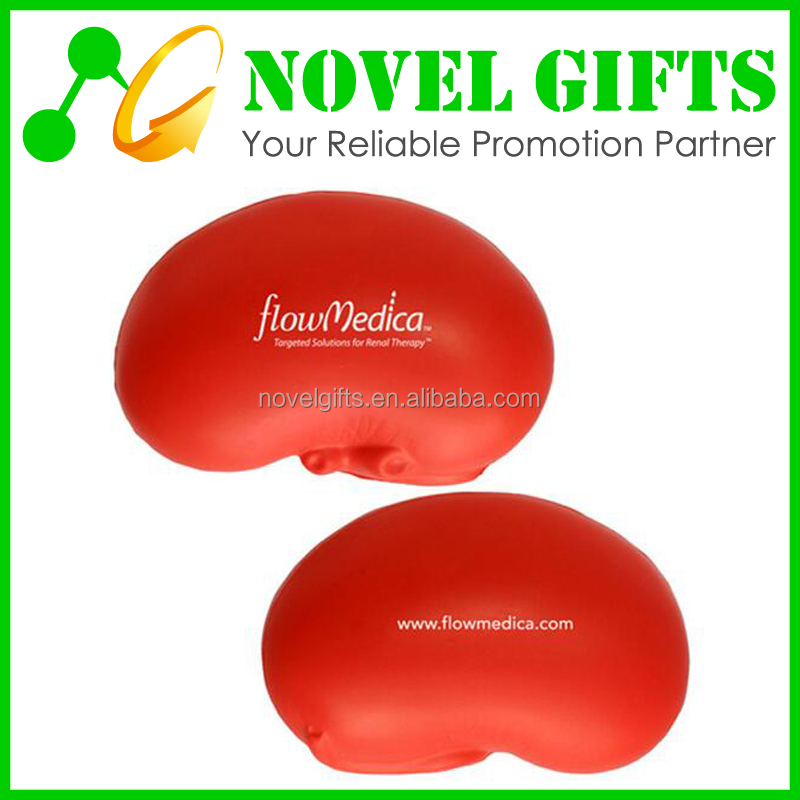 Cheap Custom Kidney Shaped PU Anti Stress Reliever Balls
