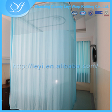 LY Medical Hospital Cubicle Bed Screen Curtains Fabric with Fireproof