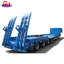 Mining Machinery Transport Vehicle Low Bed Semi Trailer