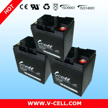 12V 28AH Solar rechargeable Battery deep cycle battery