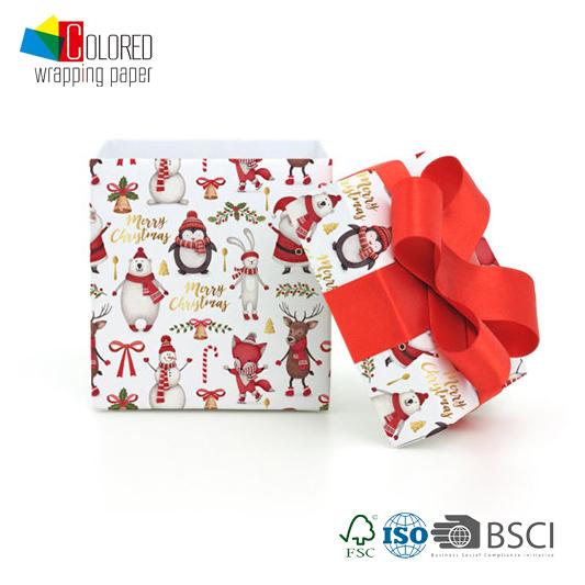 Animal Party Printing Gift Wrapping Paper for Christmas Polar Bear Bunny Deer Fox