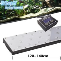 Cheap! 120w/48 inch/4ft durable led aquarium lights for fres plant,fish, with lunar cycle /thunder storm simulator, daisy chain
