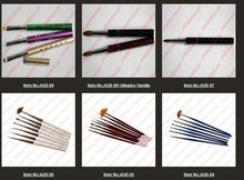 hot Nail Art Brush Set Design Drawing Nail Brushes Flat kolinsky Acrylic Brush AGB-105