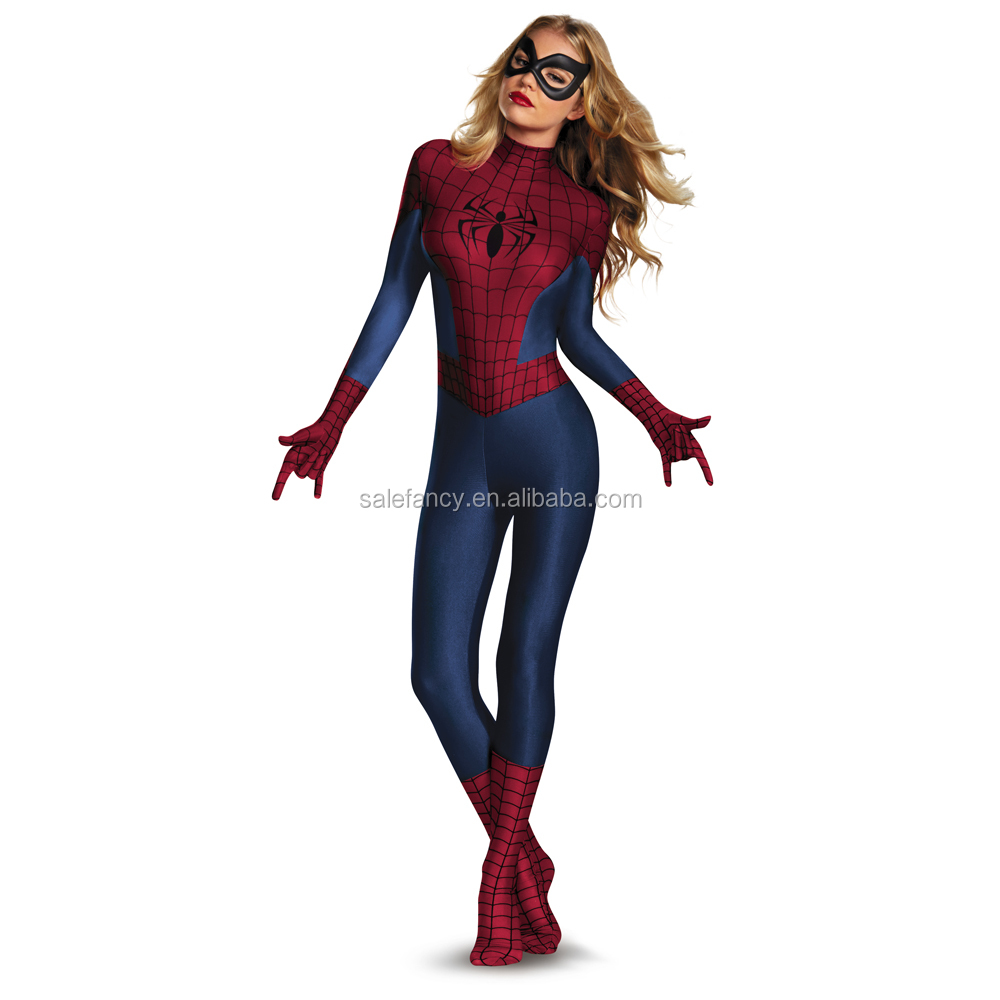 Marvel Spider Man Sassy Bodysuit Womens Halloween Party Costumes ...
