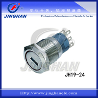 JH19-24 19mm lock push button switch