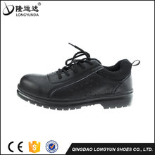 Black Low Cut Smooth Action Leather Upper Rubber Outsole Online Shopping Safety Shoes