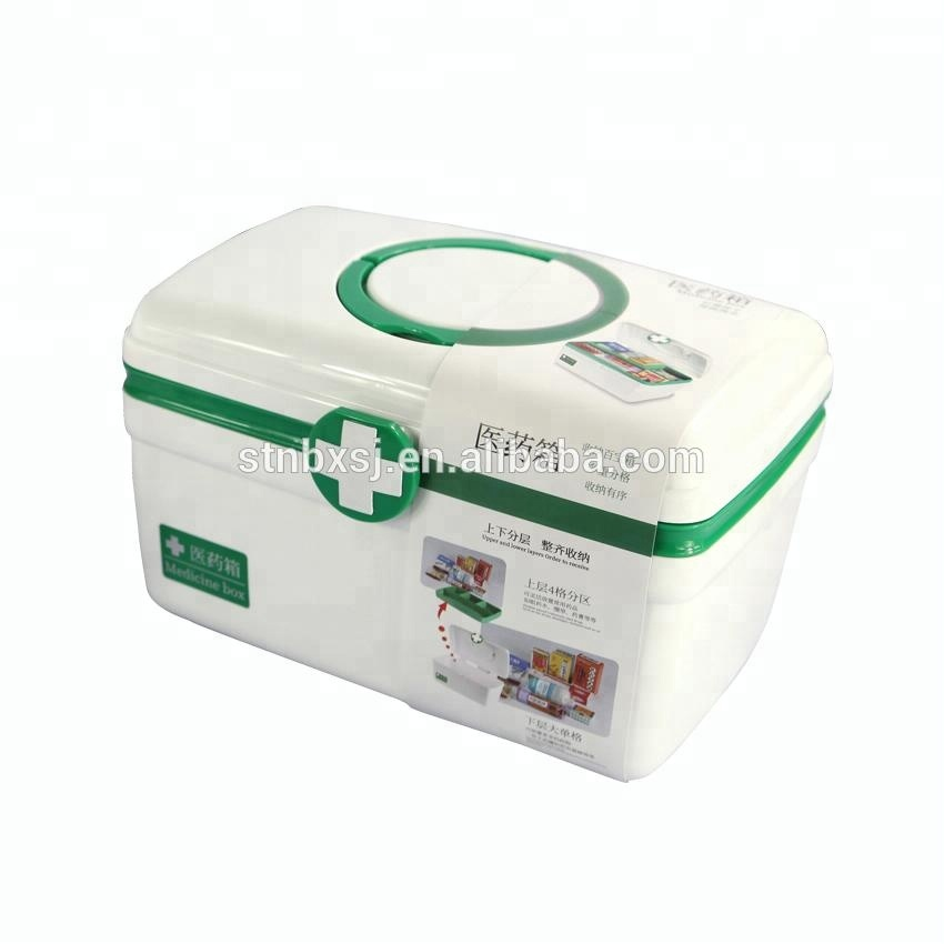 Empty Travel Private Label Plastic First Aid Kit Box