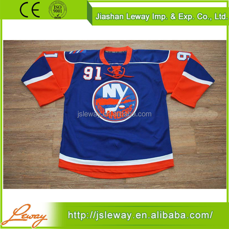 Youth goalie nhl hockey jersey custom team New York Islanders
