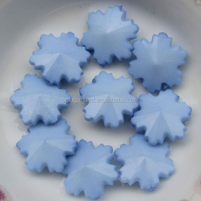 Fashion Jewelry Component Snowflake Crystal Plastic Beads With Solid Black 14MM