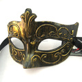 PVC Semitransparent Venice Party face Black Lace mask lace face paint mask