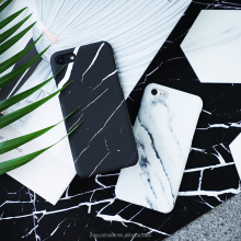 Factory Wholesale for iPhone 7/7plus Case White Black Marble Pattern Slim Fit Snap On Protective Hard Shell Back Case