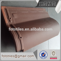 Bent Tiles Type and Ceramic Building Material butterfly roof tile