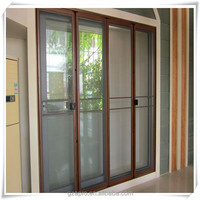 aluminium profile fly screen door bi fold screen door for sale