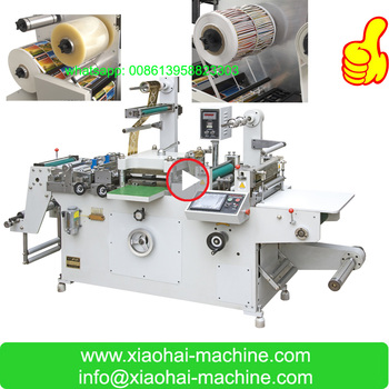 HAS VIDEO sticker Label die cutting machine from roll to sheet or to roll with hot stamping,hole puncher