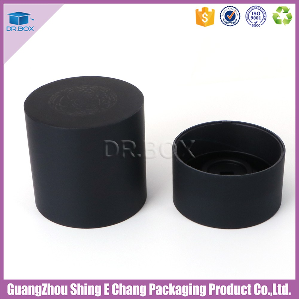 Paper Carton Black Tube Matte Laminated Belt Storage Box/Special Design Belt Packaging Box