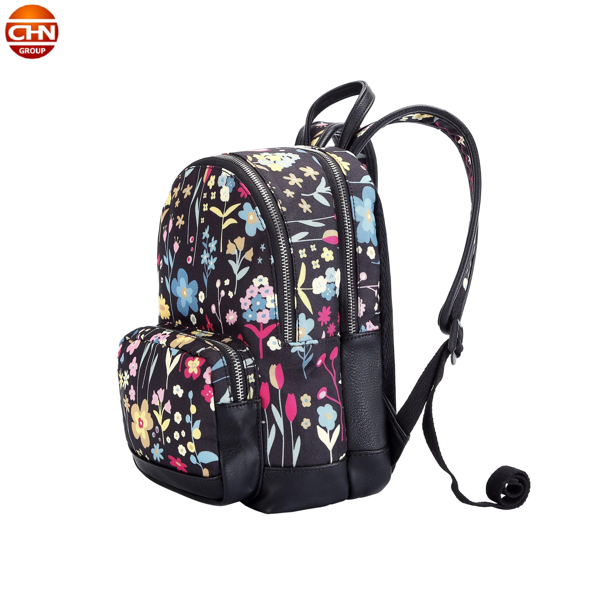 OEM printed school bag for women grils Activity backpack women backpack