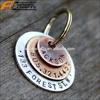 Blank Pet ID Tags Zinc alloy Round Paw Dog Disc Dog tag name or Cat tag