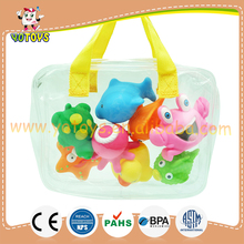 Education bath toys Beach Animals waterproof whale baby game toy bath toys set