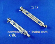 Safety bar pin , brooch pin , Steel Brooch Back Bar Pin