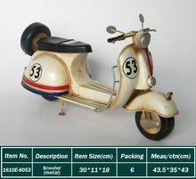 6053 Wholesale Decoration Art Craft Models Vintage Scooter