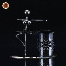 WR Table Decorations Metal Ballet Model Toy Creative Pen Holder Home Office Organization Holiday <strong>Gifts</strong> 12*6.5*13cm