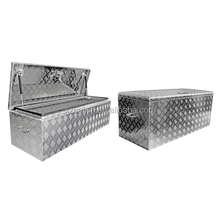 HOT Sale waterprool aluminum alloy checkered plate tool box for truck, factory price