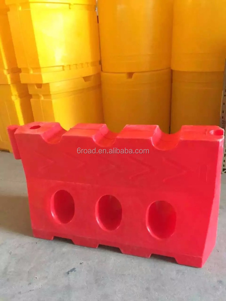 red color plastic NEW jersey barrier